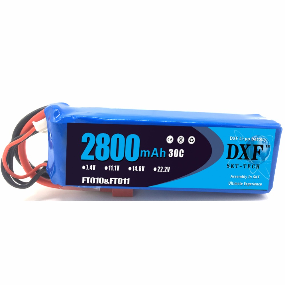Good Quality DXF 1pcs RC Lipo Battery 14.8V 2800mah 30C for FT010 FT011 RC boat RC Helicopter Quadcopter
