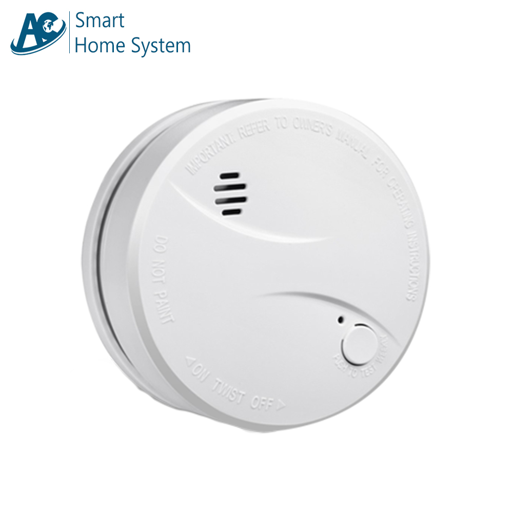CE Durable 10 Year Lithium Battery Smoke Alarm System Standalone Conventional Photoelectric Fire Alert Smoke Sensor