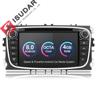 Isudar Car Multimedia player Android 8.0 GPS Autoradio 2 Din For FORD/Focus/Mondeo/S MAX/C MAX/Galaxy RAM 4GB 32GB Radio DSP