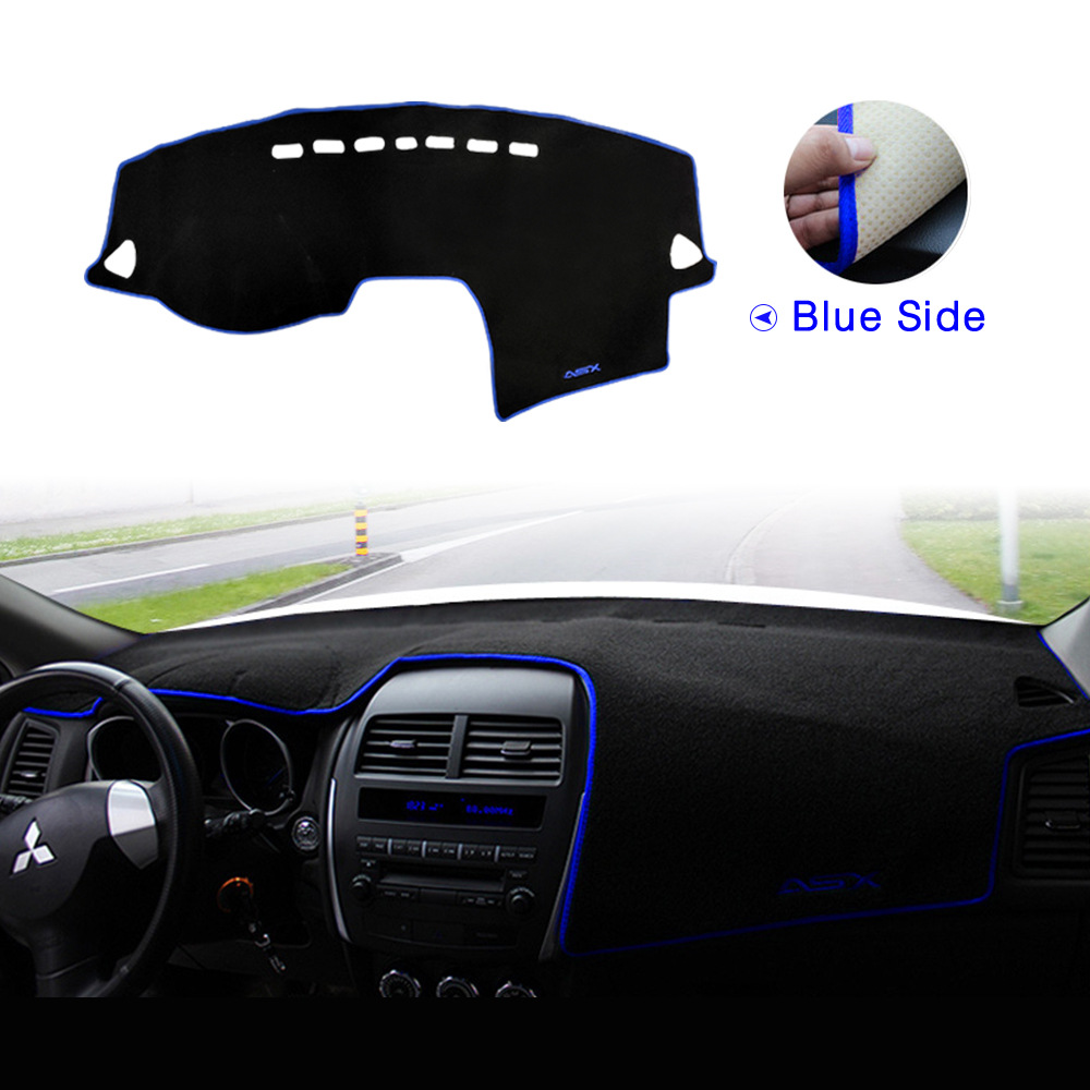 For Mitsubishi ASX 2012 2013 2014 2015 2016 2017 2018 Car Dashboard Avoid Light Pad Instrument Platform Cover Mats Carpets in Car Stickers from Automobiles Motorcycles