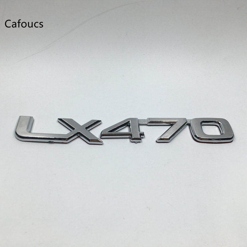 Cafoucs for Lexus LX470 LX 470 Emblem Script rear Tailgate door Chrome Trunk Logo автомобильный коврик novline lexus lx 470 1998 2007 короткий