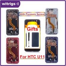 Witrigs Htc U11 液晶ディスプレイタッチスクリーンデジタイザフレーム圧力センサーアセンブリの交換