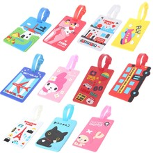 1PC Cartoon Pattern Travel Luggage Bag Tag Name Address Tel Label Holder Baggage Tag(China)