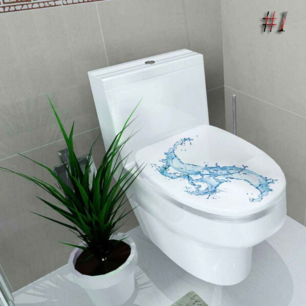 1PC New Hot 3D Paper Pan WC Pedestal Cover Stool Toilet Commode Paper Home Decor Bathroom Decor Printed 3D Flower Views