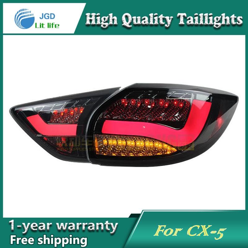 Стайлинга автомобилей чехол задний фонарь для Мазда CX-5 2012-2015 задние фонари из светодиодов задний фонарь заднего лампы светодиодные ДРЛ+Тормозная+Парк+сигнала