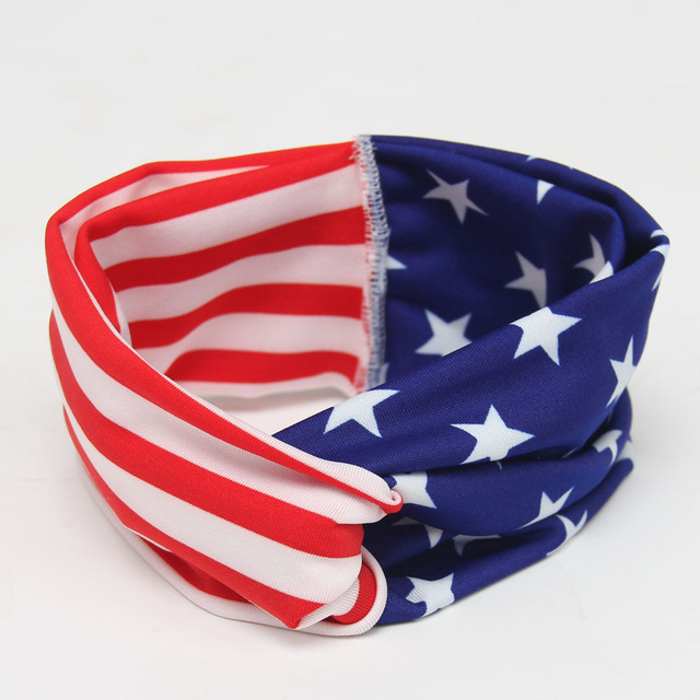Children's hair accessories baby accessories American flag butterfly knot cross section rabbit ears headband hair bands Baby Accessories