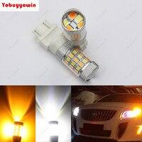 2 * Switchback Double Couleur Blanc Ambre 3157 P27/5 W 3357 3457 4157 4357 LED Ampoule tail DRL lumière 42-SMD