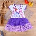 Девушки платье софия с коротким рукавом летнее платье малыша девочка одежда детей свободного покроя платье vestido infantil falda