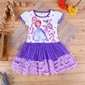 Vestido Sofia Girls manga corta vestido de verano ropa de niños niño bebé ropa niños vestido ocasional vestido infantil falda