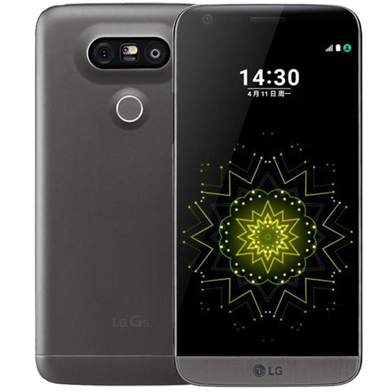 """Разблокированный LG G5 четырехъядерный мобильный телефон 4 Гб ОЗУ 32 Гб ПЗУ дисплей 5,"""" QHD ips 16MP отпечаток пальца FDD LTE смартфон - Цвет: Серый"""