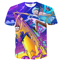 Mr 1991INC Summer T Shirt New Anime Cool Rick And Morty 3D Print Women Men T