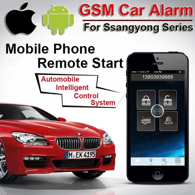 Android Ios Gps Gsm Car Alarm For Ssangyong 2 Way Alarm Monitor Car