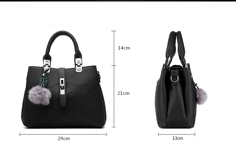 DIZHIGE Brand Fashion Fur Women Bag Handbags Women Famous Designer Women Leather Handbags Luxury Ladies Hand Bags Shoulder Sac 7