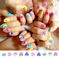 children 3D Fashion Water Transfer Nail Art Decals Stickers Cartoon Cat Flower Lips Nail Sticker Decorations DIY Tips for Nails