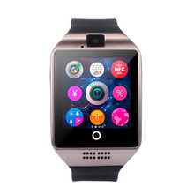 2017 New Q18 Bluetooth Ultrathin Smart Watch Camera Support SIM Card Touch screen Waterproof Sport For Android Smartphone