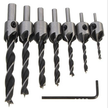 8pcs/set Big Discount! Countersink Drill Bit Press Set Reamer High Speed Steel Chamfer Woodworking Power Tools