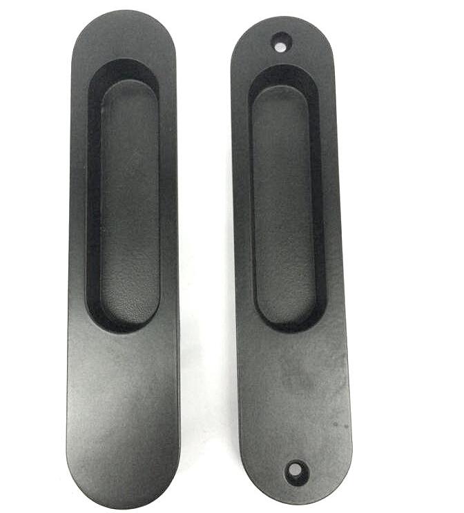 1Pair Zinc Alloy Sliding Door CabInet Recessed Flush Pull