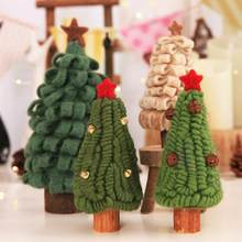 Creative Wool Felt Christmas Tabletop Tree with Tinkle Bells Xmas Craft Party Ornaments for Children Gift Home Decoration(China)