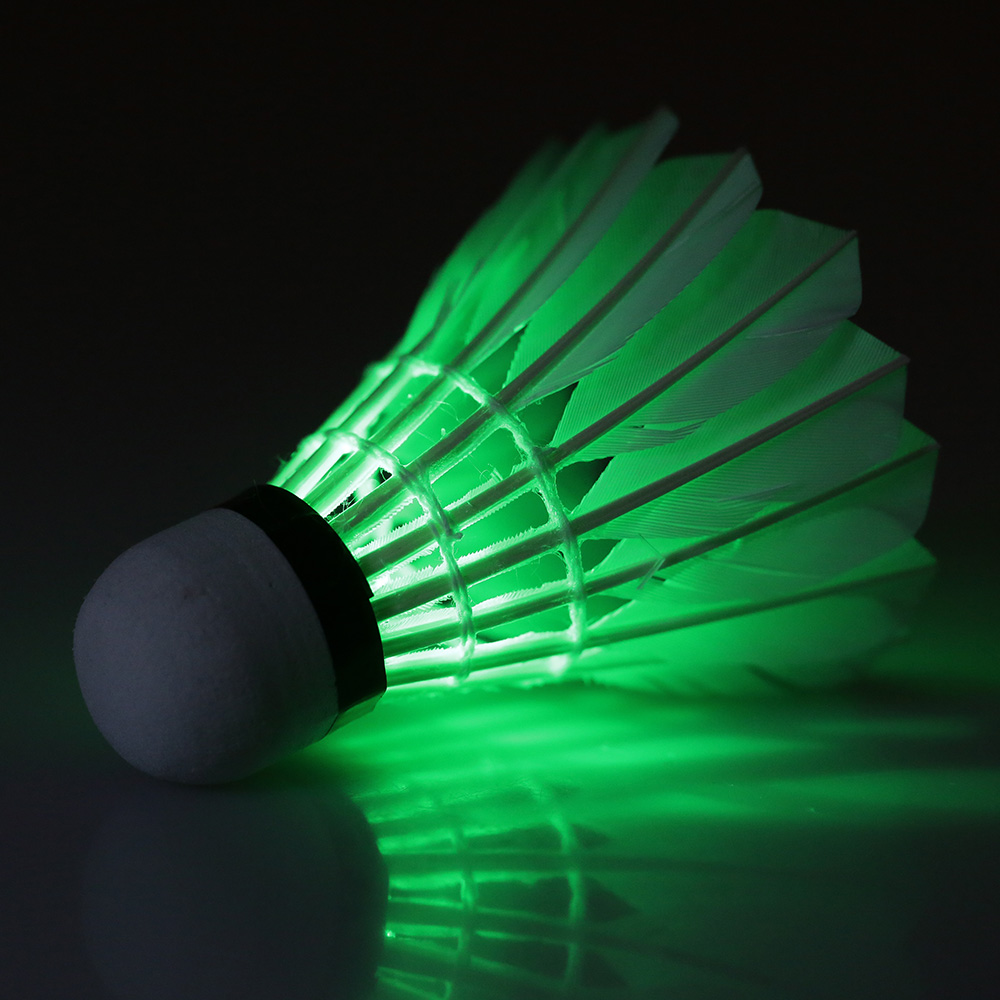 4Pcs LED Shuttlecock Badminton Feather Super Bouncy Colorful Light Badminton for Nighttime OutdoorIndoor Play toys for children