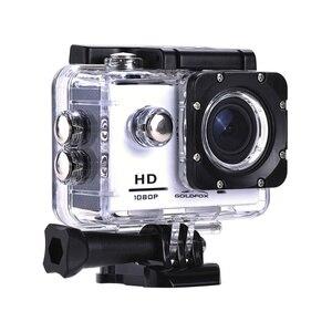 Image 3 - 1080P מיני ספורט פעולה מצלמה לטיפוס רכיבה 2 אינץ LCD מסך 120D ללכת עמיד למים פרו DV DVR וידאו הקלטת קסדת מצלמה