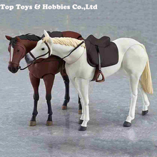 1/12 Scale Brown/White Horse Animal Model Joint Movable Fit 6 Figure doll