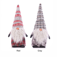Christmas Santa Claus Dolls Standing Figurine Xmas Tree Forest Ornaments Kids Christmas Gifts Toy Home Decorations