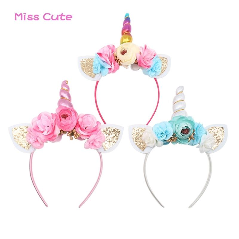 10PCS Plastic Wowen Girls Kids Headband Hair Band Cat Ear Dress Party Holloween
