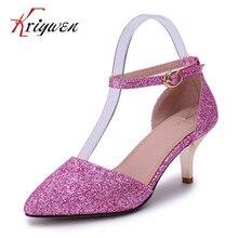 Große größe 32-43 Neue Ankunft sommer Frauen Schuhe thin High Heels glitter Glänzende Spitz Sexy Frauen Pumpt Hochzeitsschuhe Für weibliche