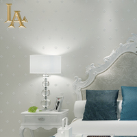 Simple European Style 3D Wallpaper For Walls Decor Bedroom Living Room Non Woven Solid Color Modern