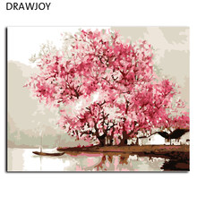 Hot Selling Frameless Wall Decor DIY Picture Painting By Numbers Hand Painted On Canvas Home Decor For Living Room 40*50cm G427(China)