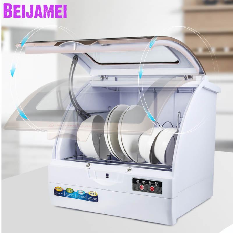 Beijamei Household Dishwasher Desktop Independent Intelligent Disinfection Sterilization Dishwasher/800W Dish Washing Machine