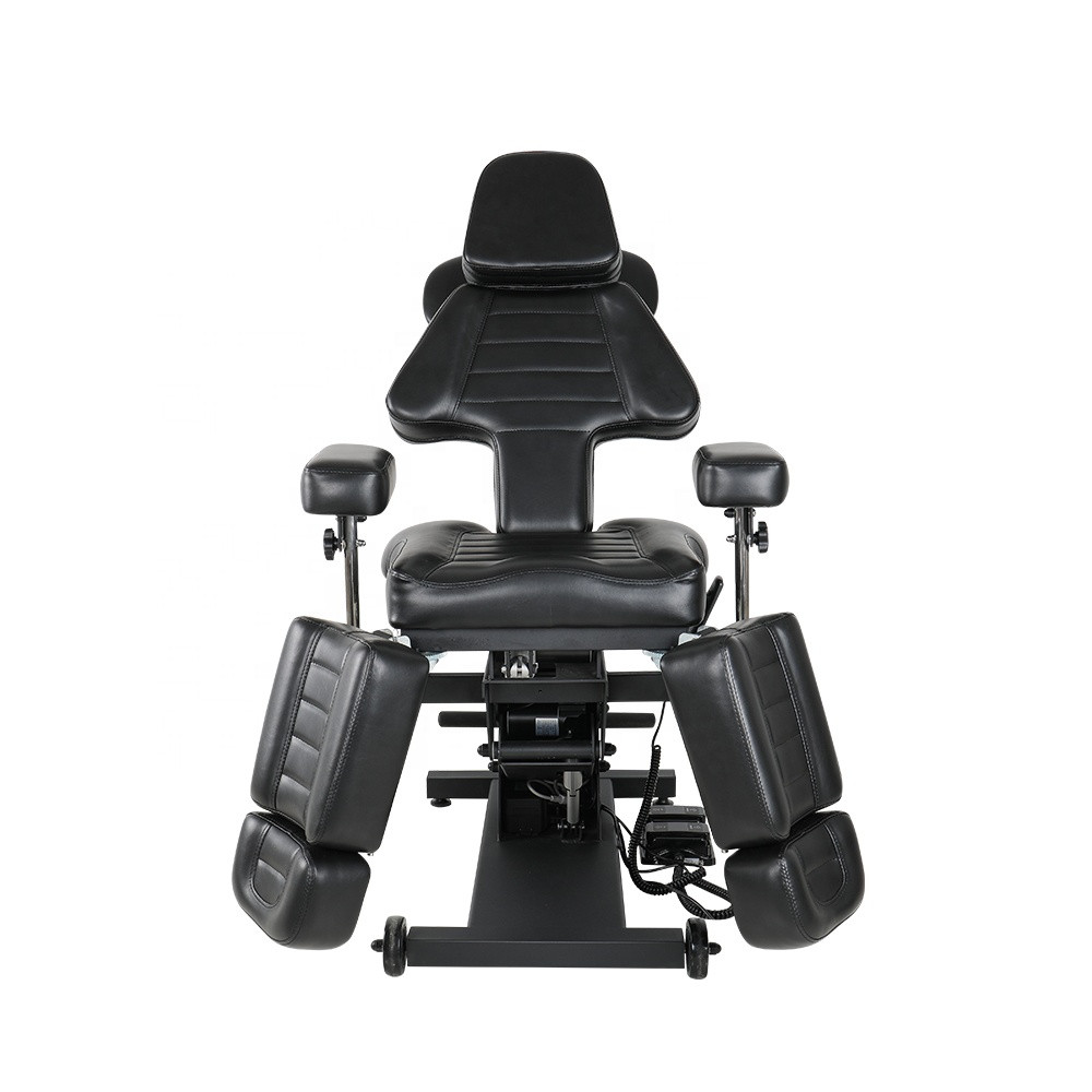 New Style Portable Multi-function Tattoo Chairs Body Massage Beauty Furniture Adjustable Folding Lifting Black Tattoo Bed Chair