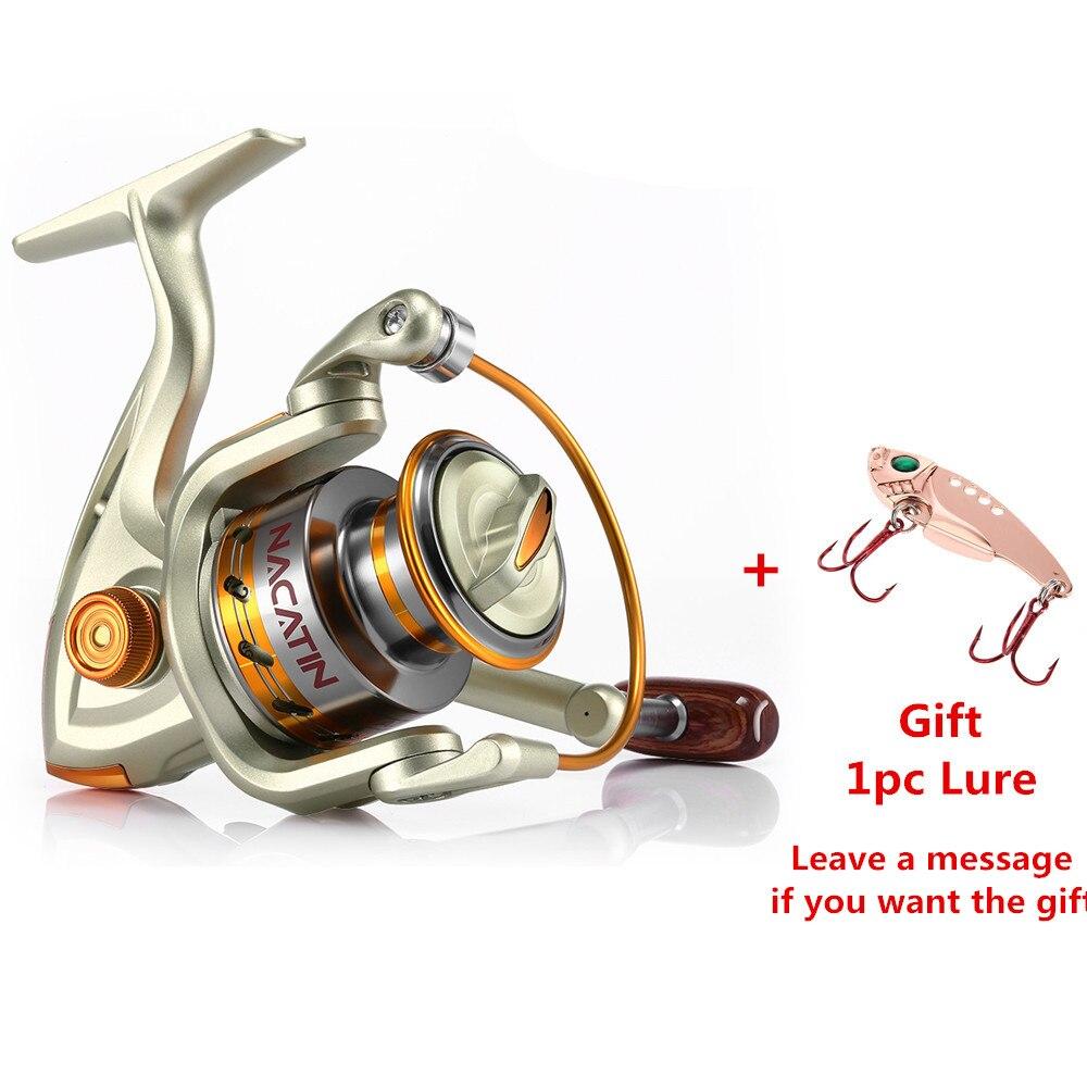 Nacatin NA1000-7000 12BB 5,2: 1 metall Spinning Angeln Reel Fly Rad Für Frische/Salz Wasser Sea Fishing Spinning Reel Karpfen Angeln