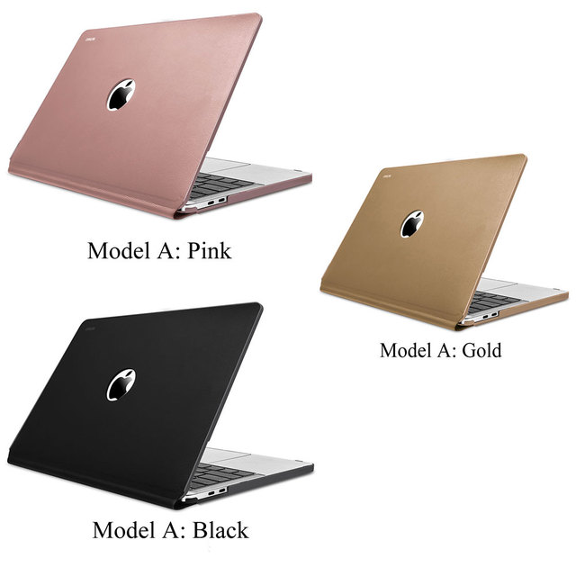 WiWU Laptop Case for MacBook Pro Air 13 A1706 A1708 A1989 A1932 inch Waterproof PU Leather Hardshell Case for MacBook Pro 13