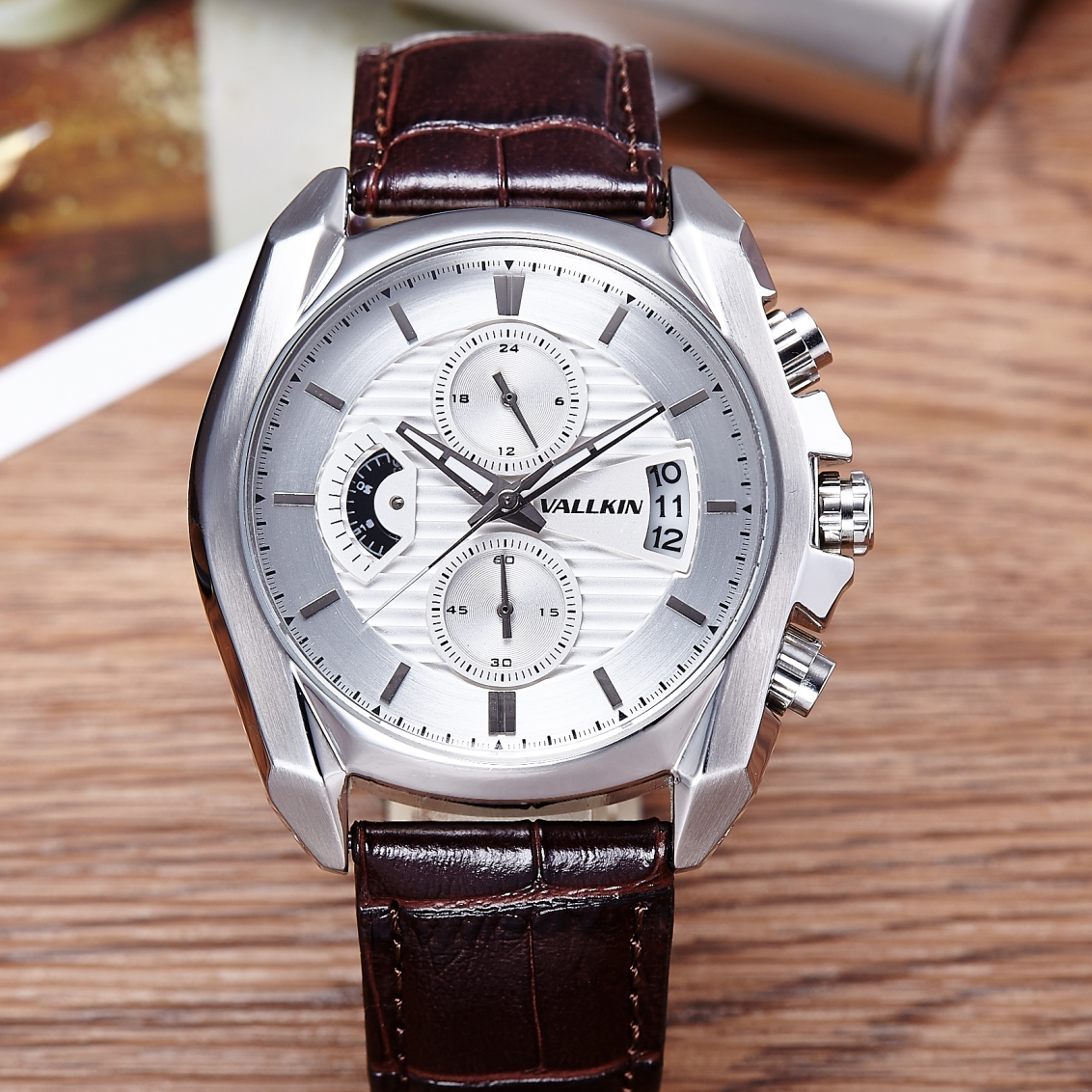 ФОТО M10010-leather-Quartz  watch for men Free Shipping