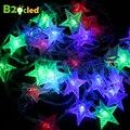 Рождественский свет шнура СИД Гирлянда лампы Holiday Освещения 5 м 28LED 10m72LED открытый свет строка украшения звездный свет ЕС plug