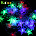 Christmas LED string light Garland lamp Holiday Lighting 5m 28LED 10m72LED outdoor light string decoration star light EU plug