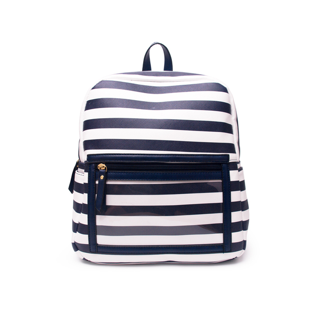 f2b67c7ceb68 Wholesale Blanks Stripe Faux Leather Essential Oil Backpack Solid Black  Clear PVC School Bag With Display