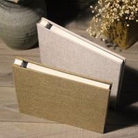 Concise Linen Since Adhesive Film DIY Album Photo Album Restore Ancient Family Will Capacity 5678 Inch Manual Originality