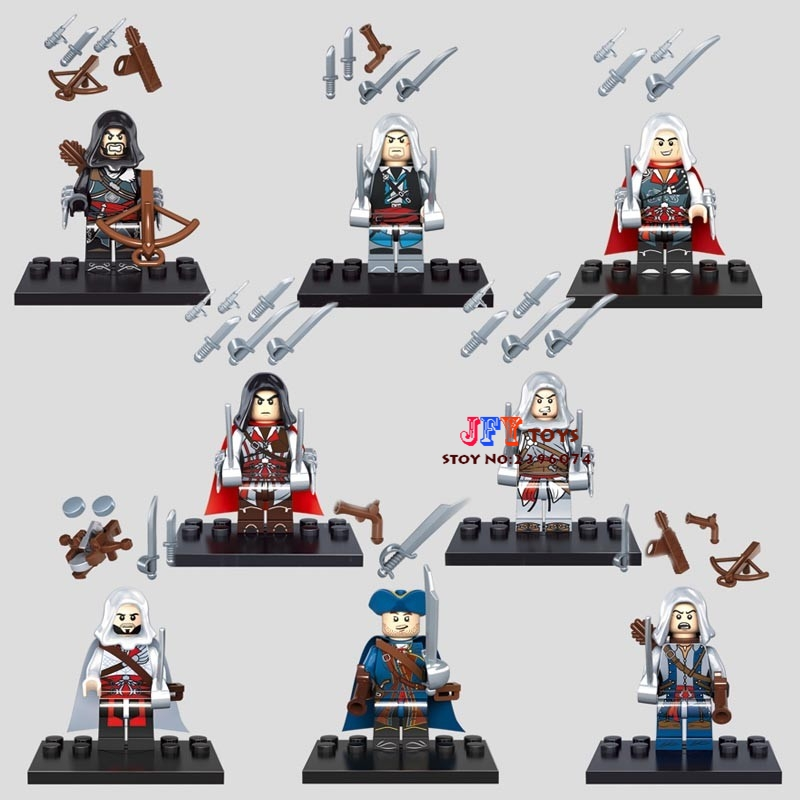 8pcs star wars super heroes marvel avengers KSZ316 Assassins Creed building blocks model brick toys for children juguetes
