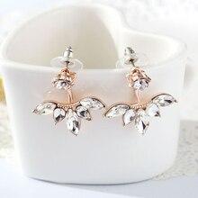 Cubic Zirconia Flower Stud Earrings (3 colors)