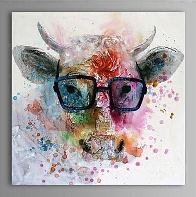 Peint à la main moderne abstrait vache mur toile Art décoration peinture à l'huile sur toile mur photos pour salons sans cadre
