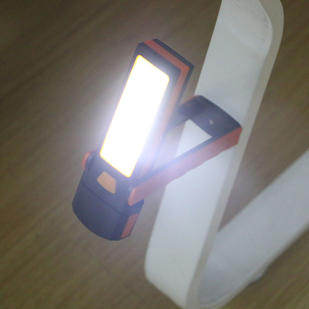 Lanternas e Lanternas cob led lâmpada lanterna tocha Color : Orange & Black Flashlight