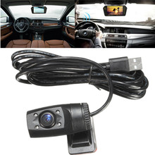 USB impermeable de 120 Grados de Amplio Ángulo de Cámara con Visión Nocturna de HD DVR para el Coche GPS Android Unidad USB Anti-envejecimiento Anti-polvo