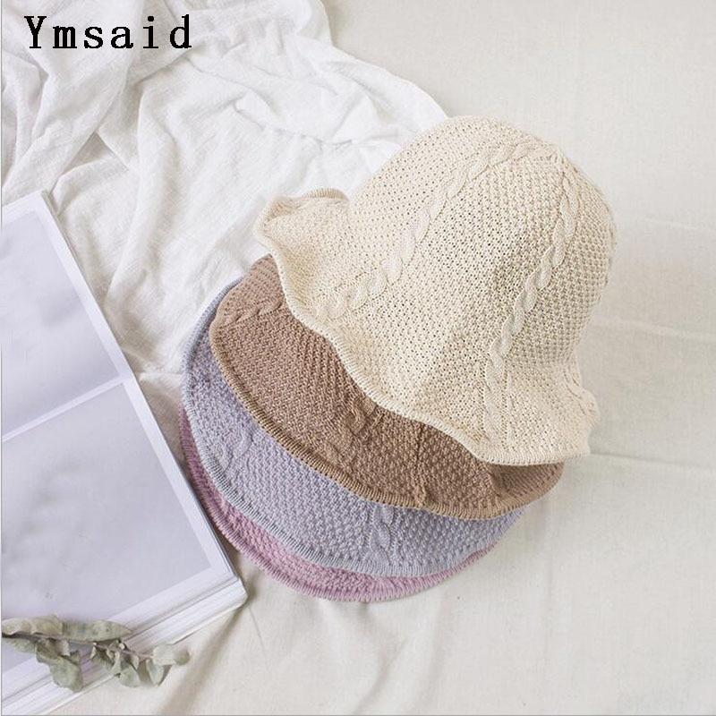 2019 NEW Chapeau Femme Sunscreen Fashion Hat Short Brim Floppy Summer Beach Sun Straw Hat Fisherman Caps Free Shipping