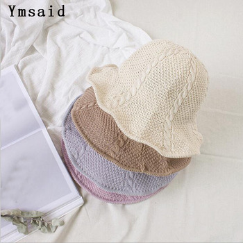 afa43f8703ce0 2019 nuevo Chapeau Femme de protección solar sombrero de moda de ala corta  disquete verano Playa Sol sombrero de paja pescador gorras envío gratis