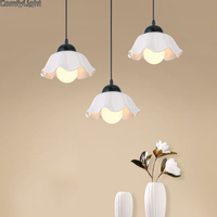 Modern E27 Pendant Lights Glass Lamp Luminaire Pendant Lamp Glass Lampshade Hang lamp Light For Bar Restaurant home Decor LED