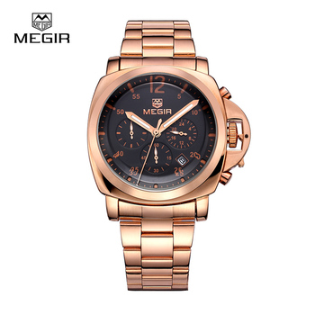 stainless steel waterproof quartz watch for men 3