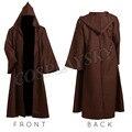 Star Wars Jedi Одеяние Оби Ван Кеноби Косплей Костюм Коричневый Плащ Хэллоуин Наряд Для Мужчина Женщина