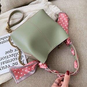 وشاح تصميم دلو حقائب للنساء 2019 بو الجلود Crossbody حقيبة السيدات الكتف حقيبة ساعي الإناث السفر حقائب حمل